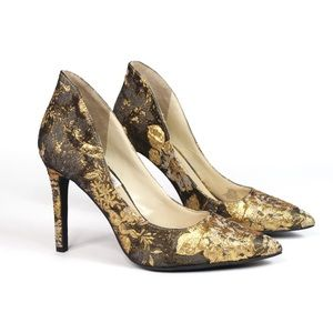 Jessica Simpson Cambredge Floral Brocade Pumps 6